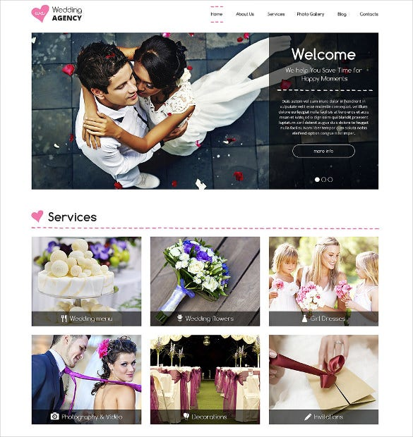 responsive wedding planner drupal template