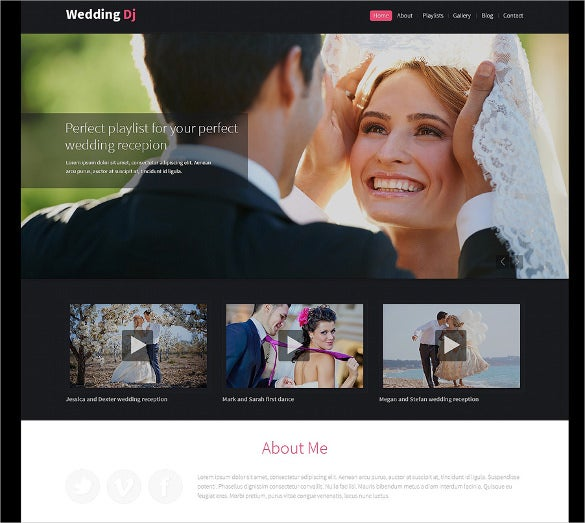 premium wedding planner drupal template