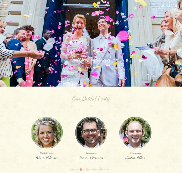 responsive onepage wedding drupal theme