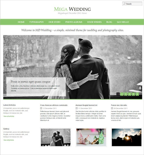 pretty wedding drupal theme