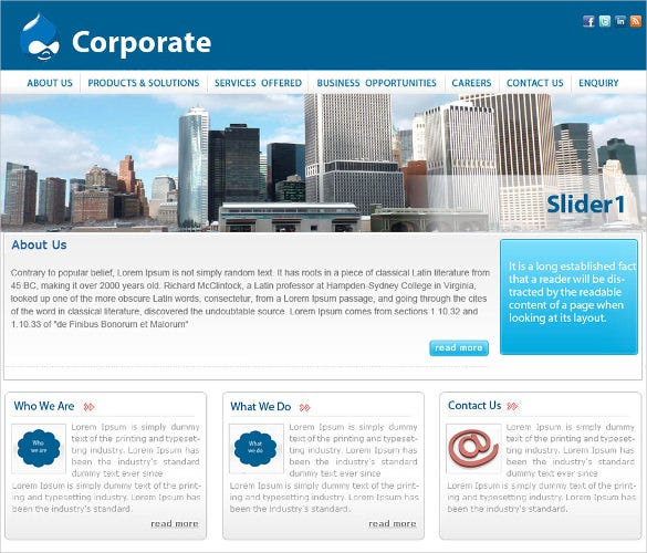 drupal website templates free download