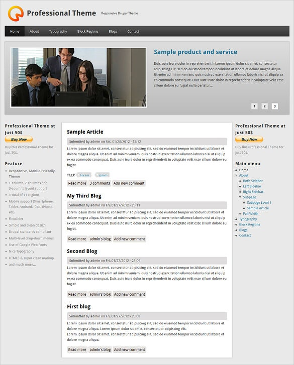 corporate professional drupal theme