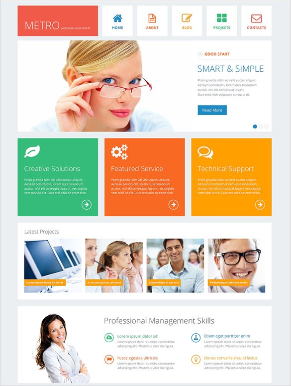 corporate financial advisor drupal template