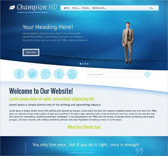 champion accounting wordpress theme