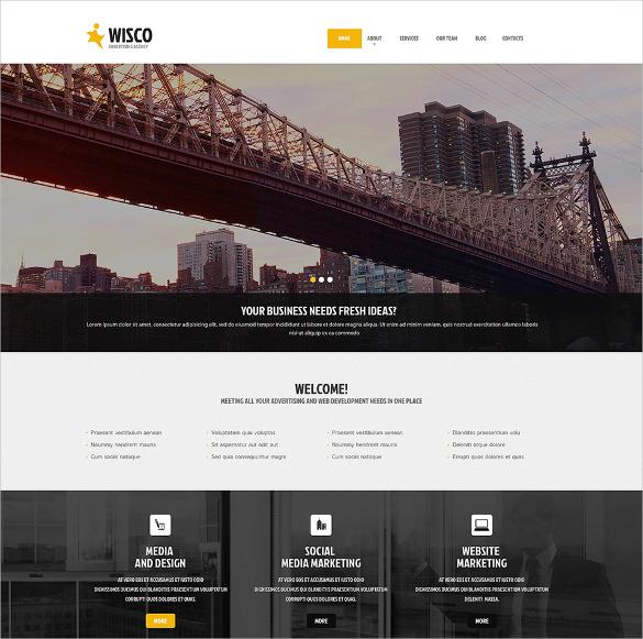 17+ Advertising Agency WordPress Themes & Templates | Free & Premium ...