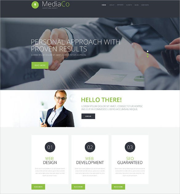 excellent advertising agency wordpress theme