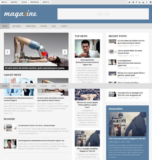 modern drupal magazine theme