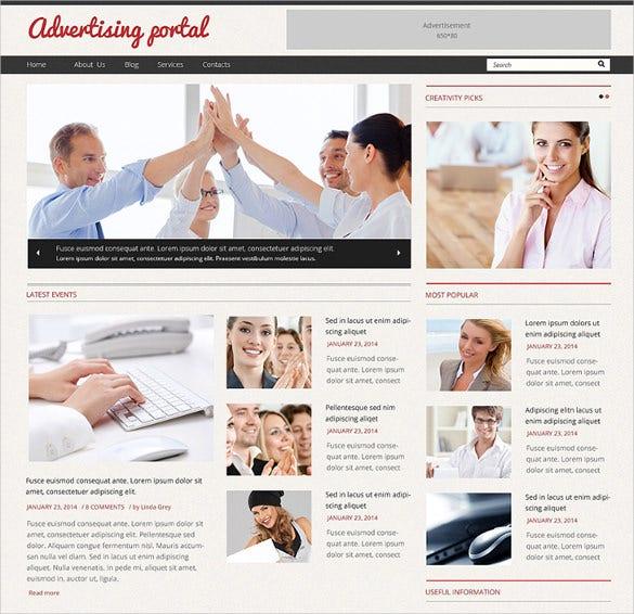 clean responsive advertising agency wordpress theme