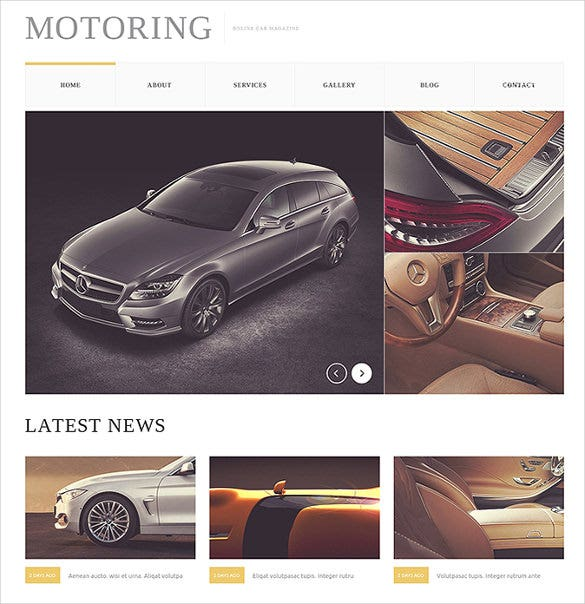car bike joomla template