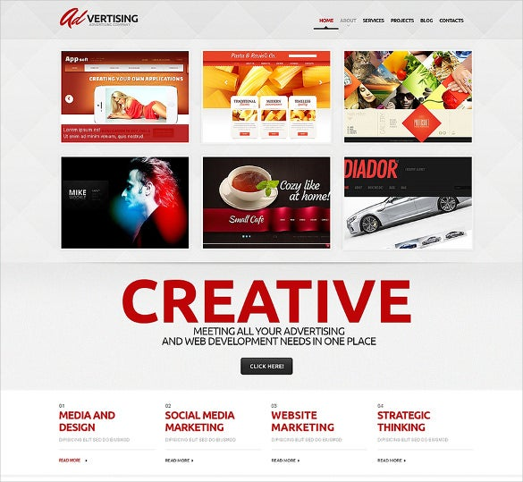 advertising compant theme