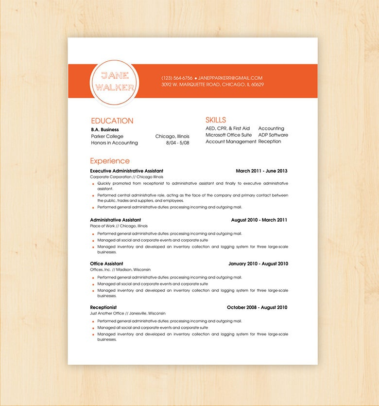 Basic Resume CV Template  Resume Word Document Template