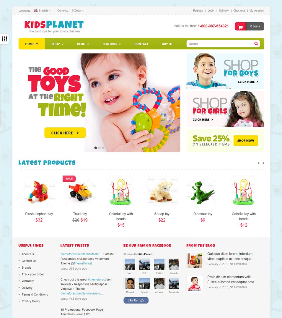 25 Best Baby Mobile Templates for Baby Blogs & Websites | Free ...