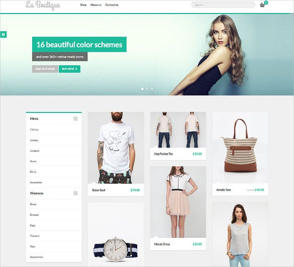 20+ Boutique Website Themes & Templates | Free & Premium Templates