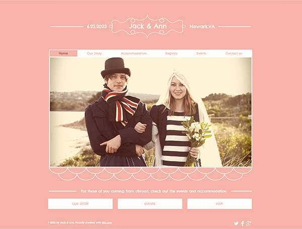 wedding php framework website template11