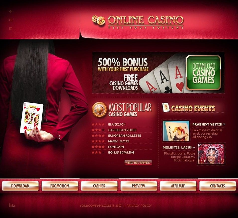 Online Casino Flash Template