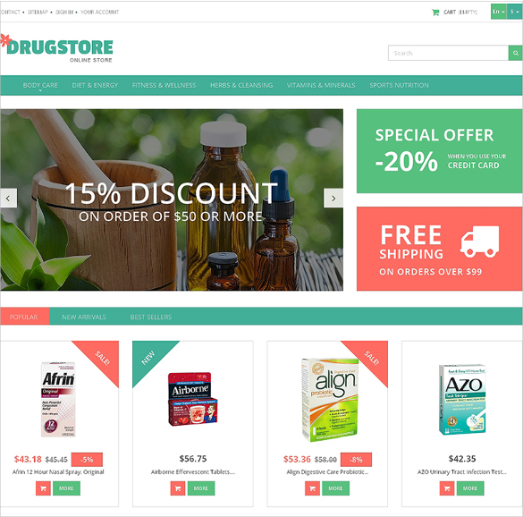 medicine and health prestashop theme