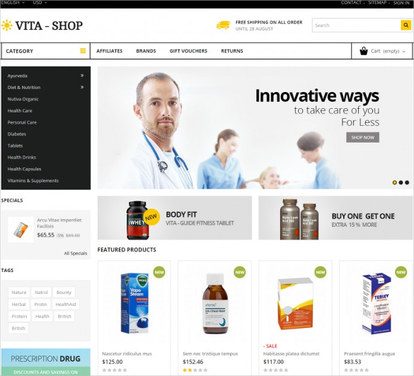 drug store prestashop template
