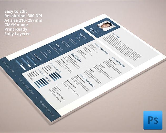 resume template for all type of designers
