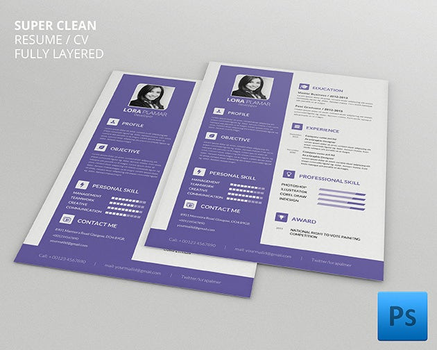 Psd resume template 51 free samples examples format download professional developer resume cv template yelopaper Images