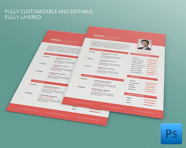 Marketing executive cv template