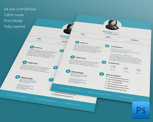 presentation designer resume cv template - Graphic Design Resume Samples Pdf