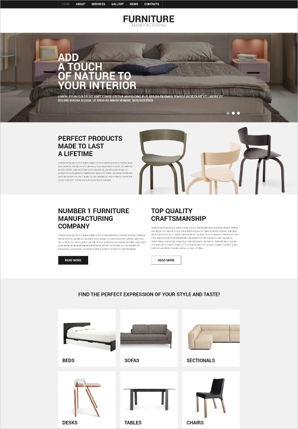 versatile home furniture eshop joomla template2
