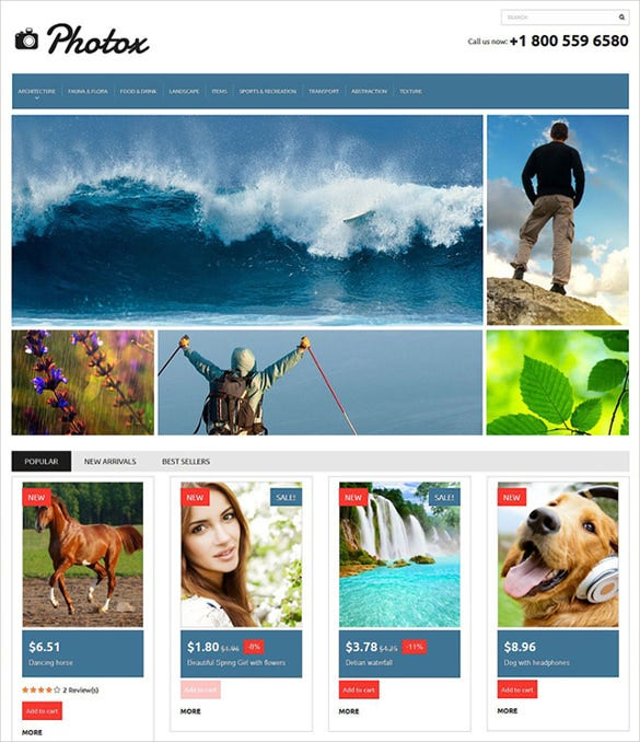 photo video prestashop ecommerce theme