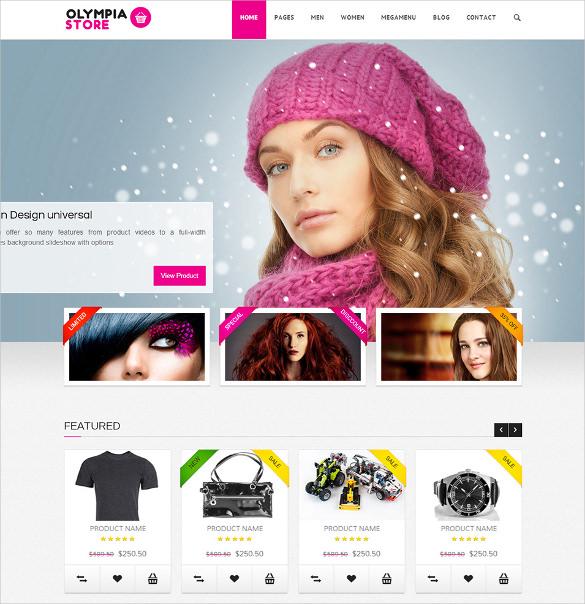 olympia responsive html5 ecommerce theme