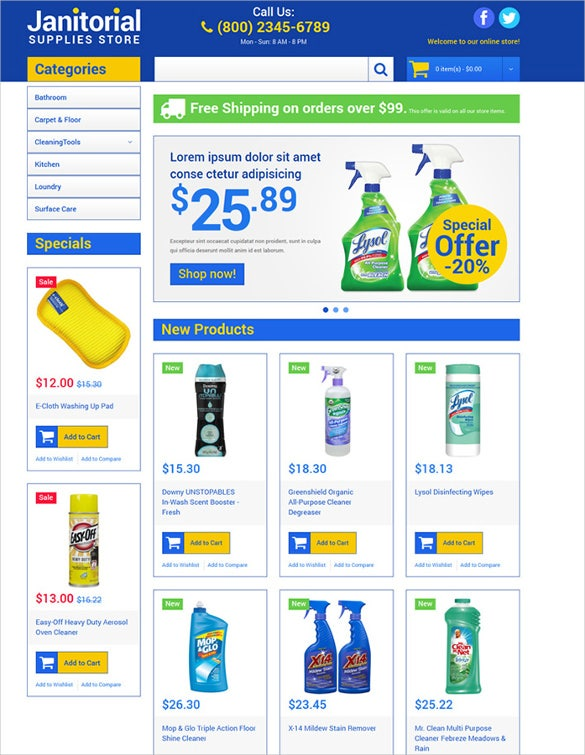 cleaning supplies store ecommerce magento theme