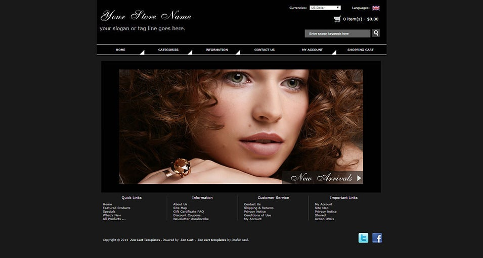 Fashion Zen Cart Template
