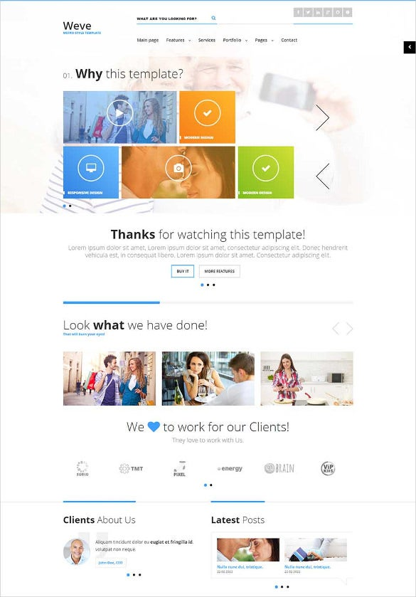 responsive metro style html css template