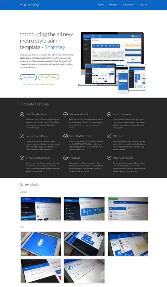 shamcey metro style admin template1