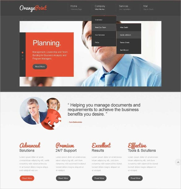 management company website template2
