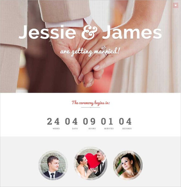 responsive wedding invite jquery html5 template