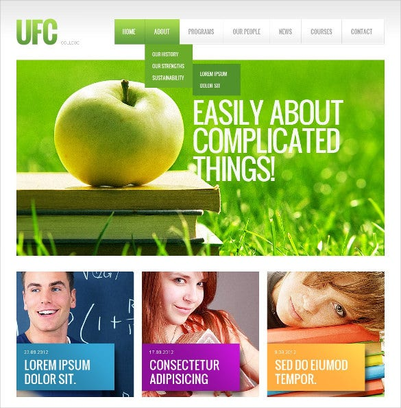 university jquery html5 website template
