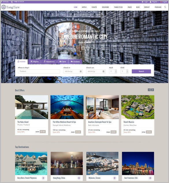 travel responsive template