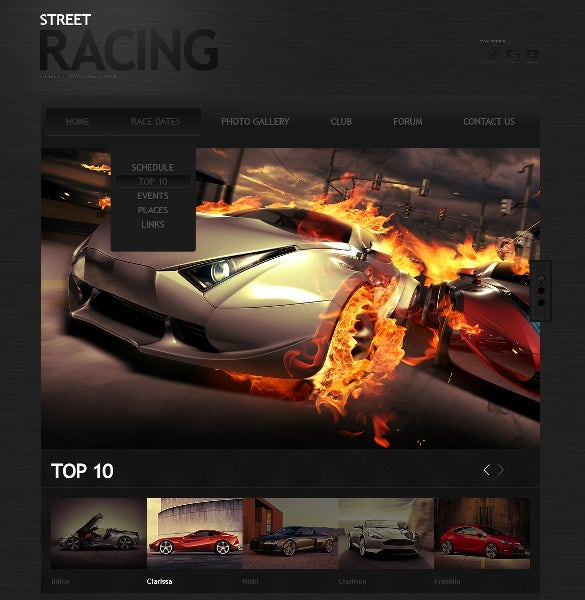 car racing website template1