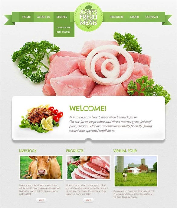 cattle farm website template1