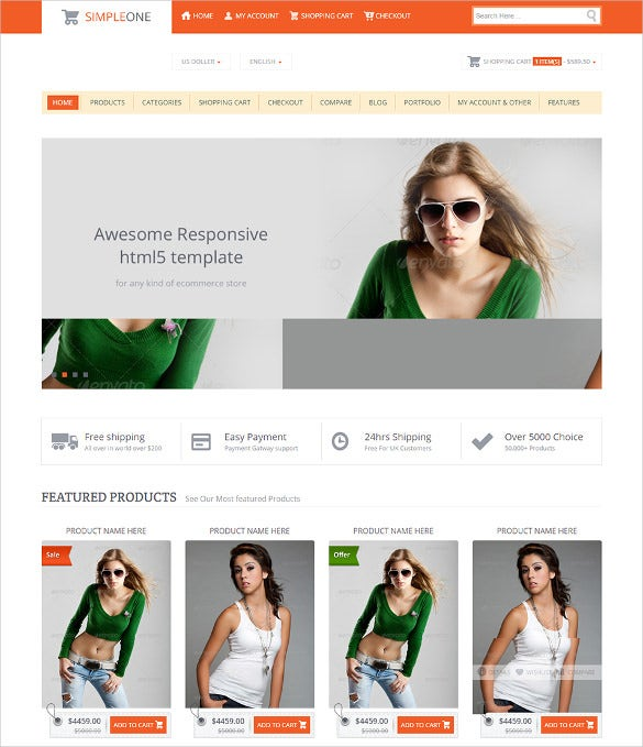 html5 responsive store ecommerce template