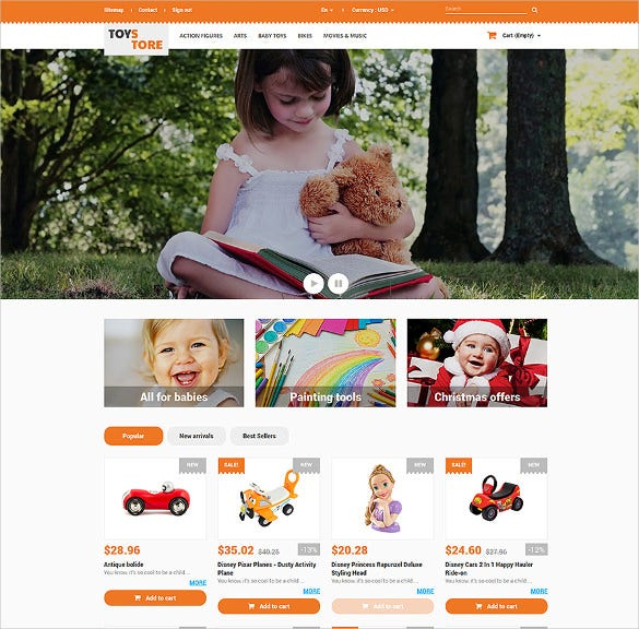 toys store for kids ecommerce prestashop theme