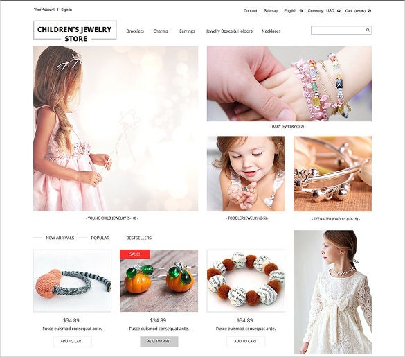 premium children jewelry store ecommerce prestashop theme