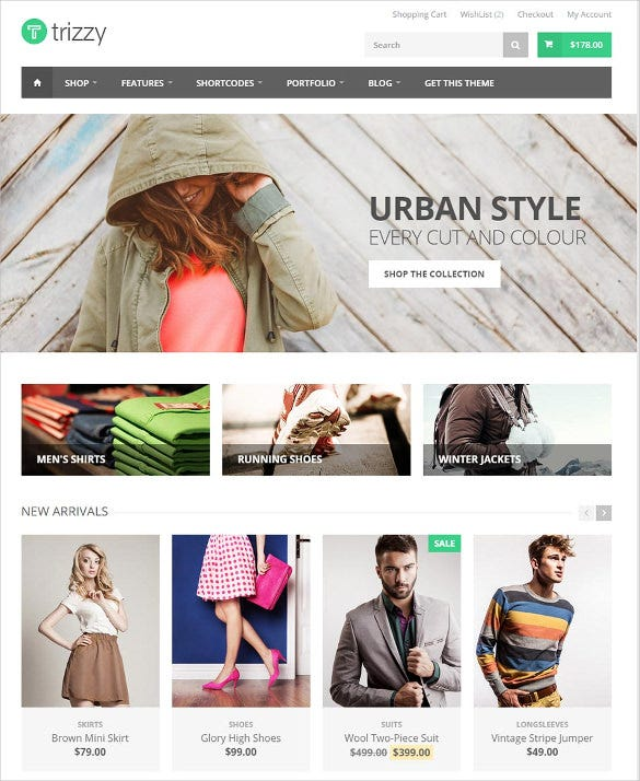 multi purpose ecommerce html5 template