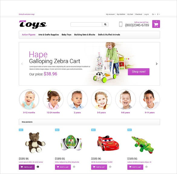 simple toy store responsive magento theme1