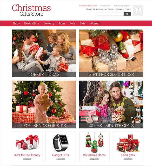christmas gifts ecommerce store magento theme