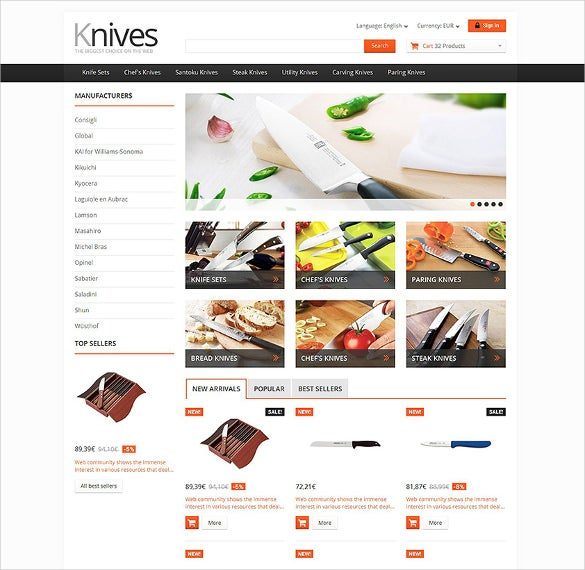 housewares responsive ecommerce prestashop theme