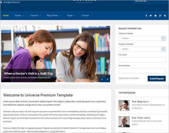 education college responsive template1