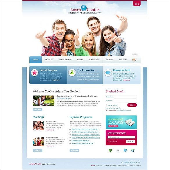 free download templates for student information system