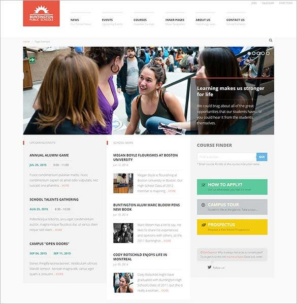 25+ Education HTML5 Themes & Templates | Free & Premium Templates