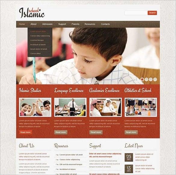 religious school website template11