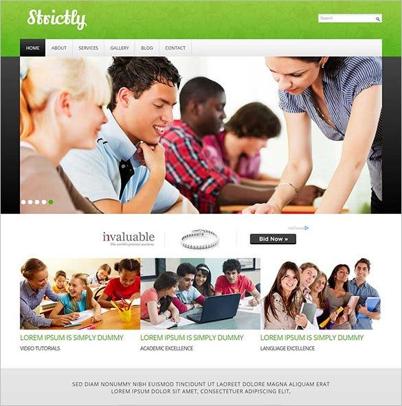 education mobile website template1